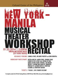 New York-Manila Musical Theater Workshop Recital